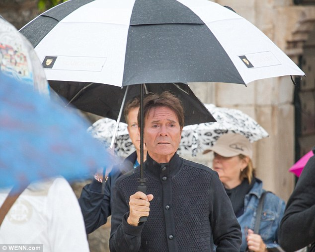 Sir Cliff was spotted out-and-about in the old town of Dubrovnik, Croatia's most popular tourist destination