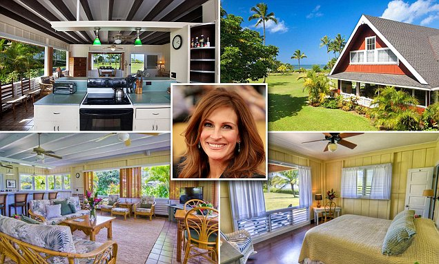 Julia Roberts cuts $10m from the price of her Hawaiian home