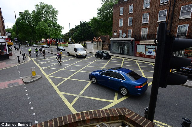 This yellow box junction at Bagley's Lane in Fulham has raised £2.4million worth of fines in the last 18 months and £12million over the last seven years
