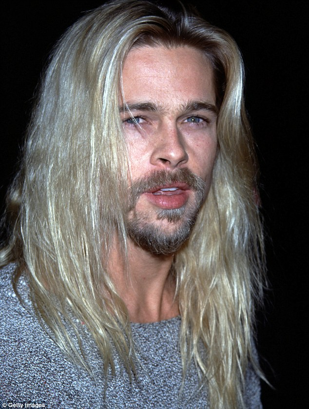 His inspiration? The star resembles a Nineties grunge version of Brad Pitt circa Legends Of The Fall; here Pitt, now 52, is seen in 1994