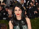 """NEW YORK, NY - MAY 02:  Huma Abedin attends the """"Manus x Machina: Fashion In An Age Of Technology"""" Costume Institute Gala at Metropolitan Museum of Art on May 2, 2016 in New York City.  (Photo by Jamie McCarthy/FilmMagic)   Huma / stone"""