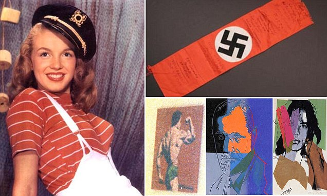 What do a Nazi armband signed by US soldiers, a photo of Marilyn Monroe and Andy Warhol
