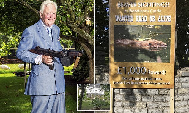 Sir Benjamin Slade slammed for offering £1k reward to kill beavers
