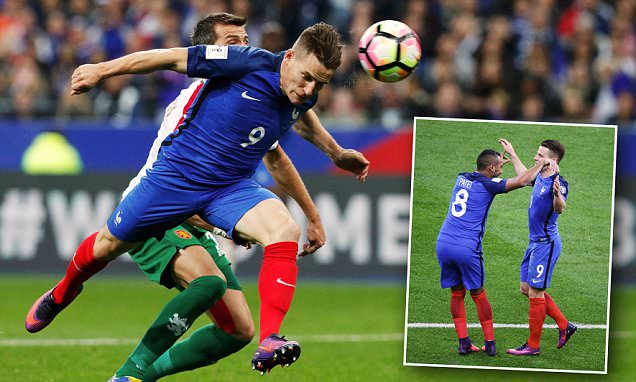 France 4-1 Bulgaria:  Antoine Griezmann and Kevin Gameiro double act gets 2018 World Cup