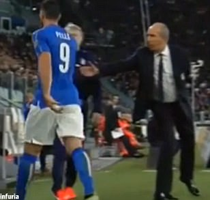 Italy striker Graziano Pelle sent back to China after 'unacceptable' handshake snub with