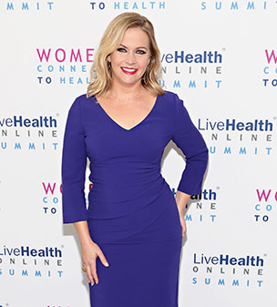 Bold in blue: Melissa Joan Hart was power dressing for the 2016 LiveHealth Online Summit: Women Connect to Health in NYC.