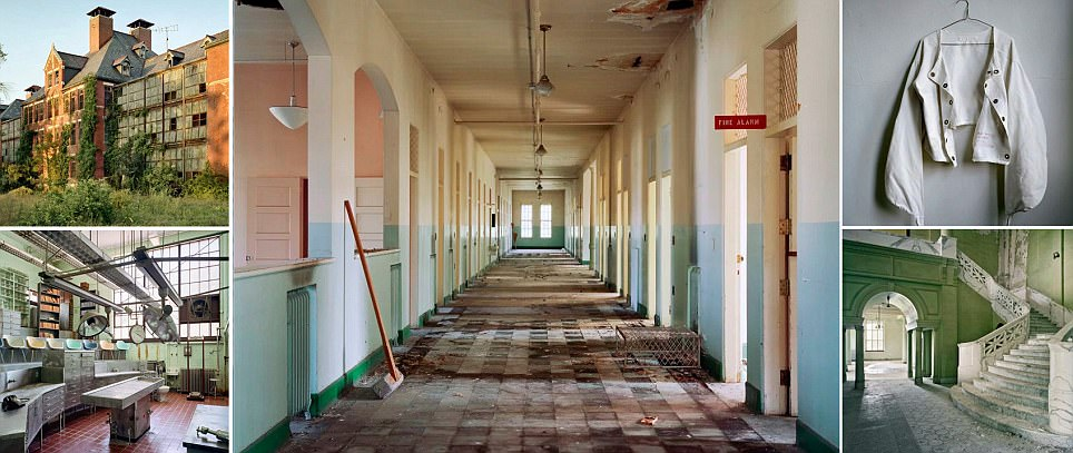 Empty halls, straight jackets and a crumbling autopsy room: Haunting photos capture