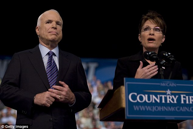 2008 Republican nominee John McCain (pictured with Sarah Palin) said in a statement: 'There are no excuses for Donald Trump's offensive and demeaning comments'