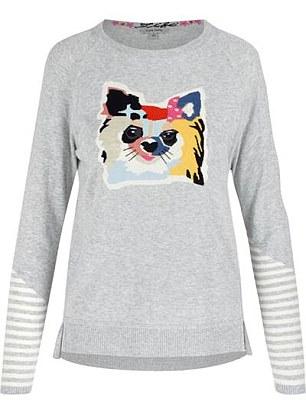 Animal instincts: Lisa Todd 'Fifi' sweater, $147, larrimors.com