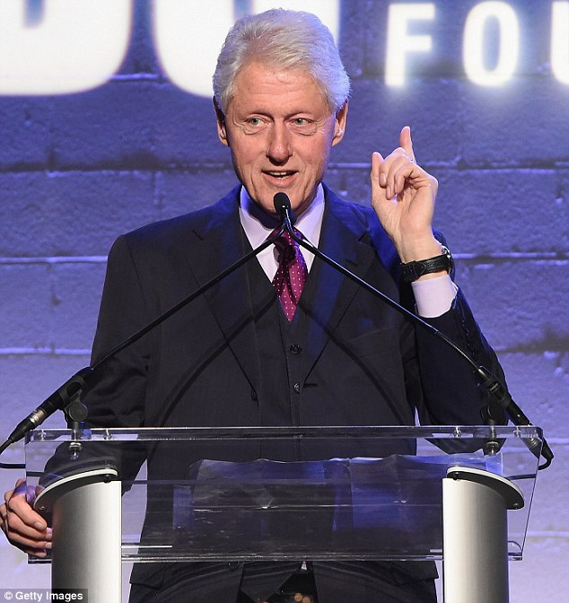 Hillary's husband: Bill Clinton made a speech at the Jon Bon Jovi Soul Foundation's 10 year anniversary