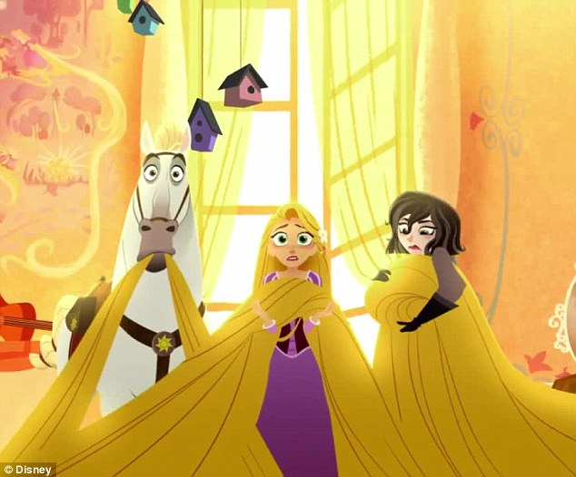 Does 'knot' make sense! The new teaser for the Tangled TV series was released on Friday... and Rapunzel's hair has somehow regrown