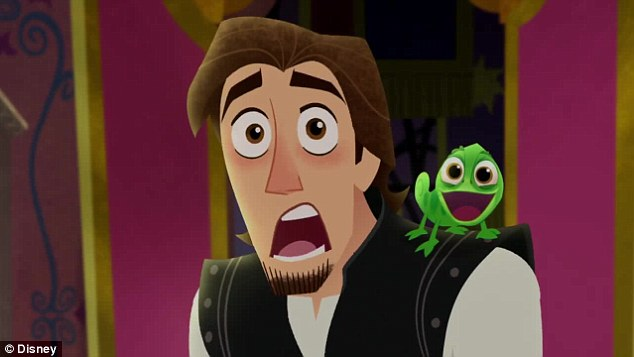 Questions bobbin around: The teaser shows Flynn Rider looking just as shocked as presumably all Tangled fans are
