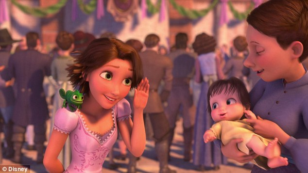 New look: Tangled ended and Tangled Ever After started - *spoiler alert* - with Rapunzel rocking a cute new short brunette pixie cut