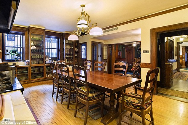 One of the dining rooms. The property is currently owned by Helen LaKelly Hunt, daughter of oil tycoon H.L. Hunt, who paid $15.75 million for it in 2007