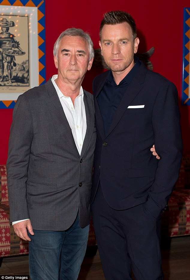Runs in the family: Ewan was joined by his uncle, actor and director Denis Lawson