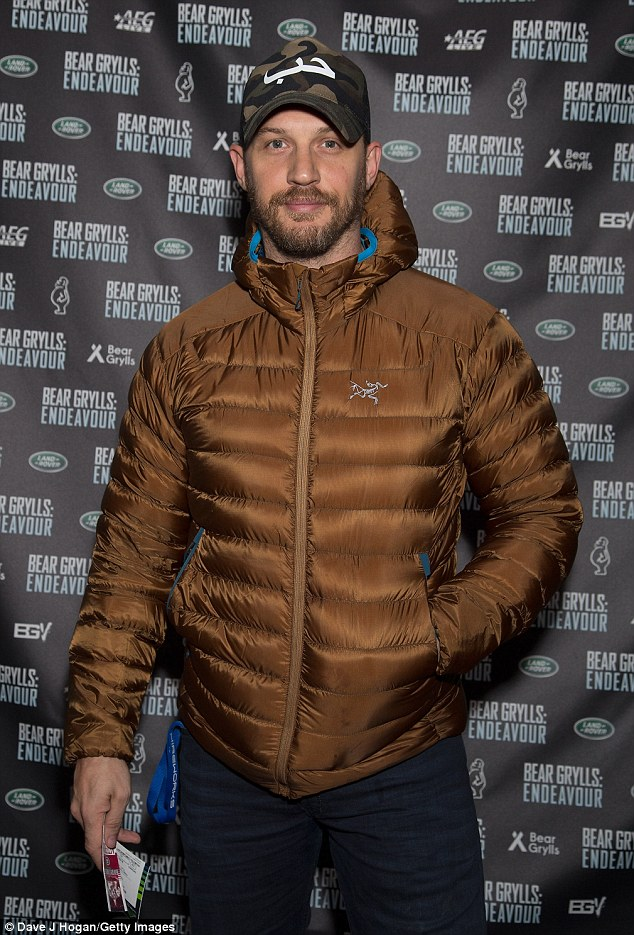 Handsome man: The critically-acclaimed performer, 39, cut a rugged figure as he attended Bear Grylls: Endeavour at Wembley Arena
