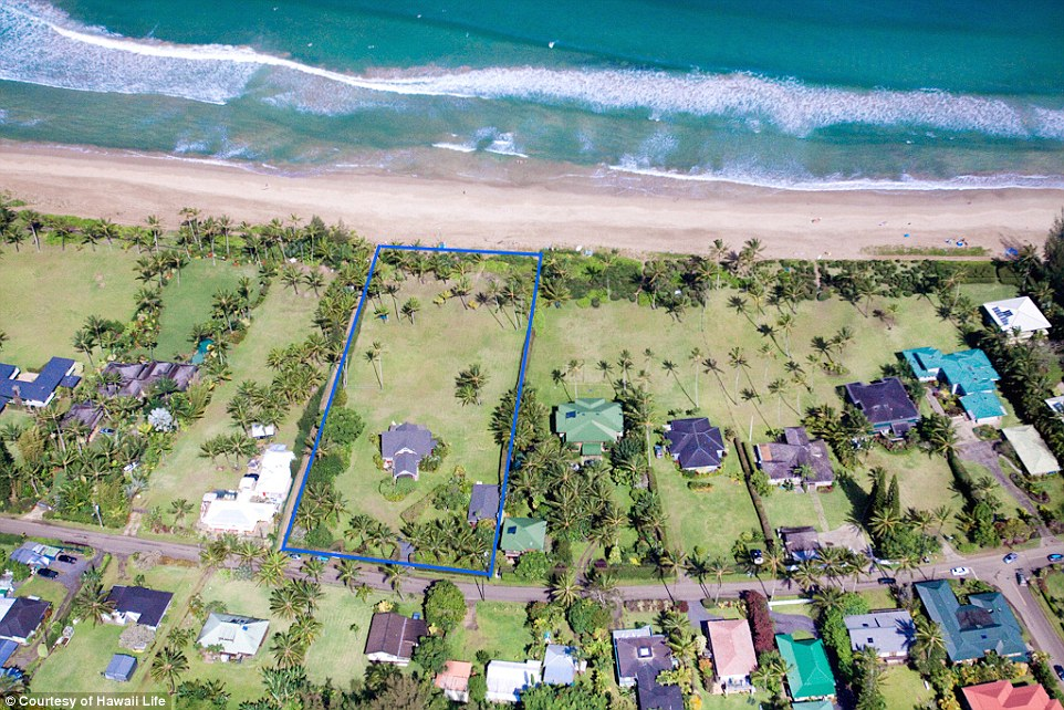 Estate: The six bedroom home once owned by a 20th century sugar executive sits on two acres of land on Kauai's north shore
