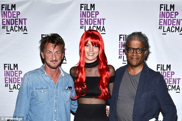 What will her dad say? Sean Penn, 56, and new girlfriend Leila George, 24, make first red carpet appearance as a couple alongside Elvis Mitchell at the Los Angeles County Museum of Art on Thursday