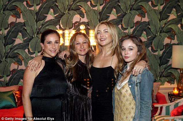 Pals: Kate and her girlfriends posed up for pictures