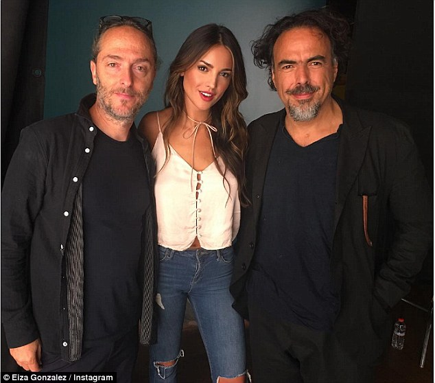 For a good cause:She shared a photo from the set of a video she filmed for the Vote Your Future campaign with Alejandro Gonzalez Inarritu and Emmanuel Lubezki