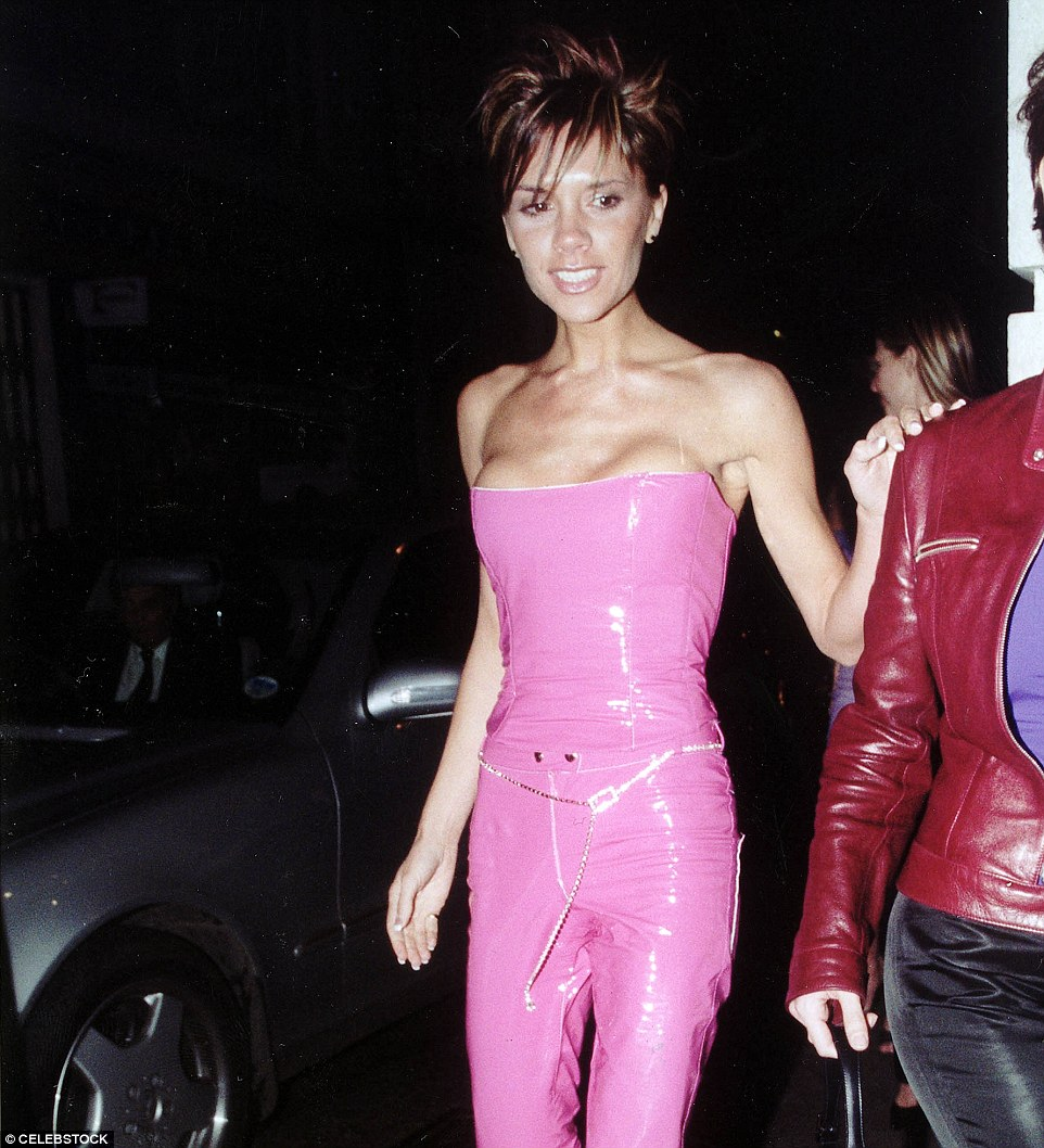 A hot pink corseted PVC jumpsuit? What on earth was she thinking? Fashions were bad back in February 2000, but there was no excuse for this, surely!
