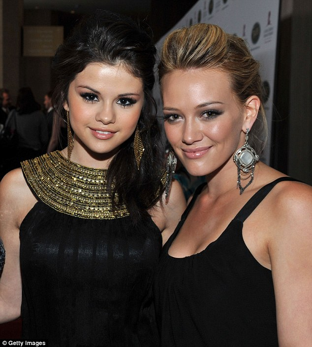 'I think it's so hard':Hilary Duff is no stranger to having people whisper about her private life, but the star has revealed she feels for those who stepped out into the spotlight after her - like Selena Gomez (pictured 2008)