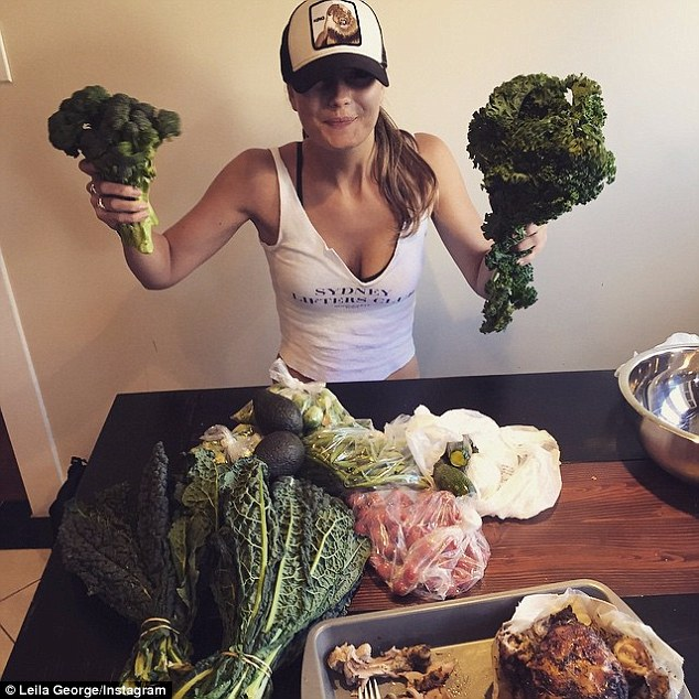 Healthy: Leila has documented her healthy eating habits on Instagram