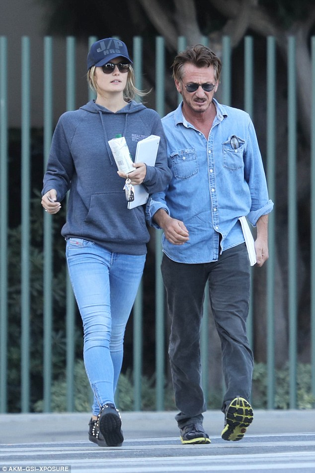 Hot date:56-year-old Sean Penn and his new girlfriend Leila George, 24, continued their romantic week by perusing the Los Angeles County Museum of Art on Thursday