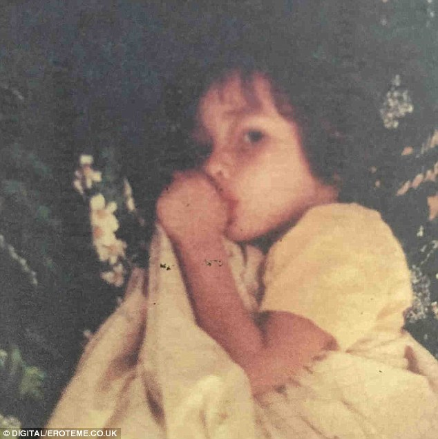 Way back: Shannen posted a photo of herself as a little girl on Wednesday after undergoing chemotherapy
