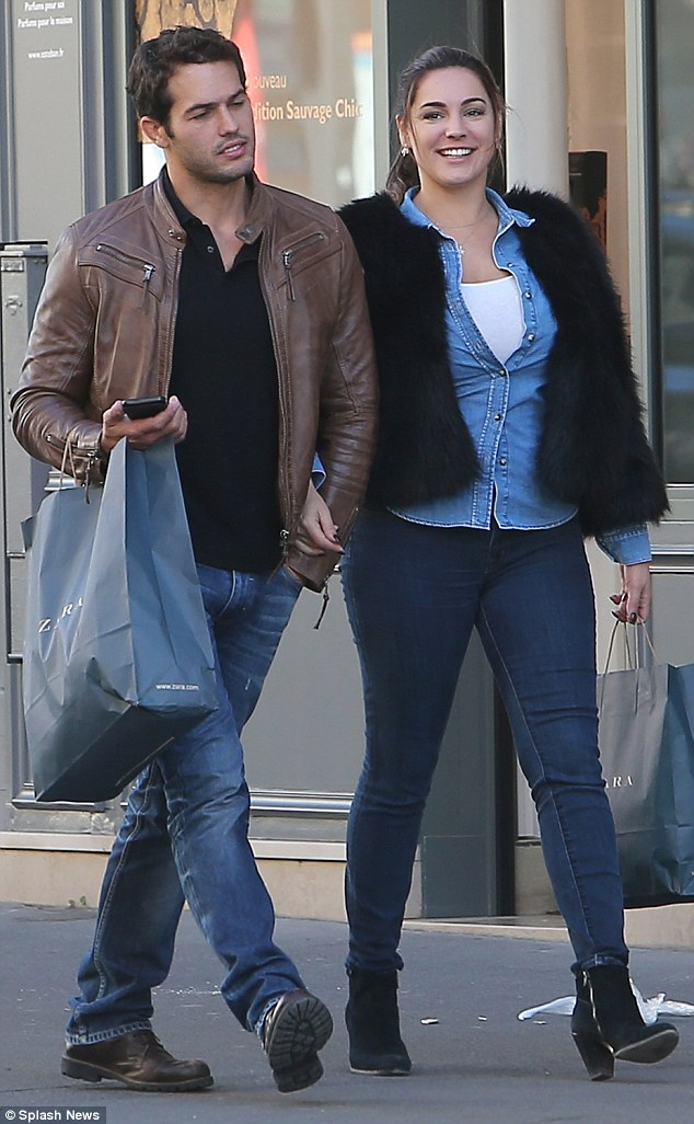 In Paris with Parisi! Kelly Brook looked in good spirits as she stepped out with boyfriend Jeremy Parisi in the French capital on Friday