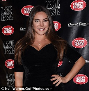 A new look: Kelly Brook looked worlds away from her usual self as she transformed her look with dead straight hair and over the top make-up while attending the Paris launch party for Chantal Thomass' new show Dessous Dessus