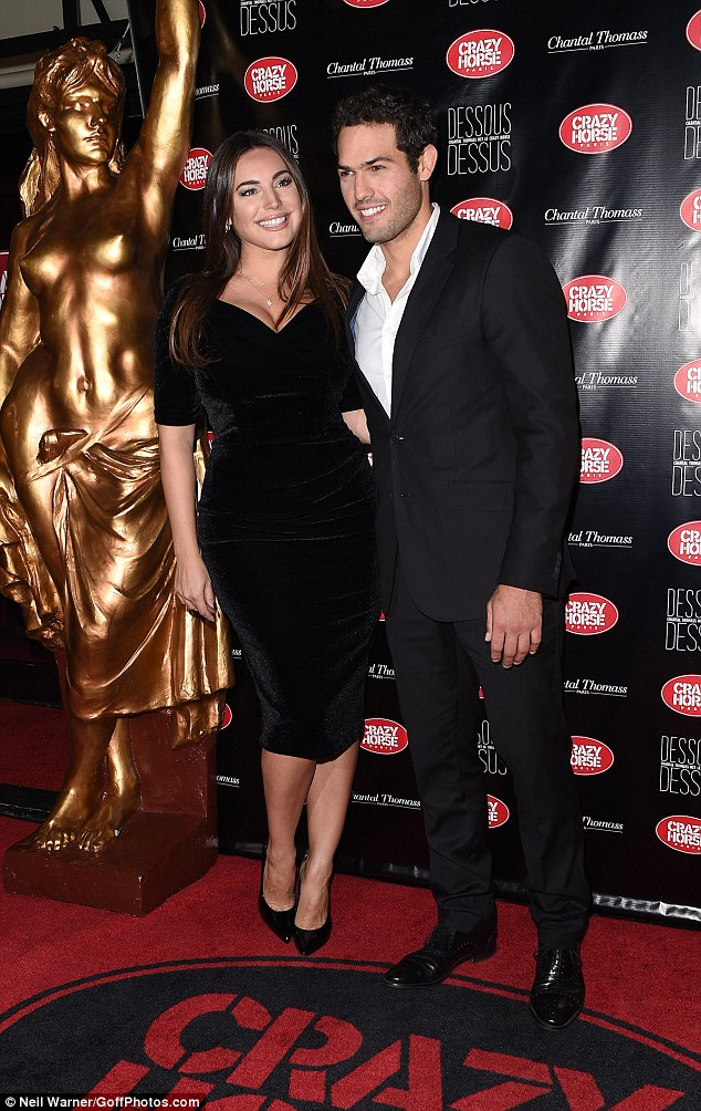 Date night: Kelly cosied up to her French partner Jeremy on the red carpet, looking blissfully happy together