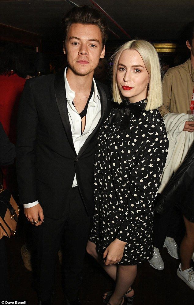 Happy families: Harry Styles cosied up to his glamorous sister Gemma on Thursday night, inside Another Man X Dior party in London