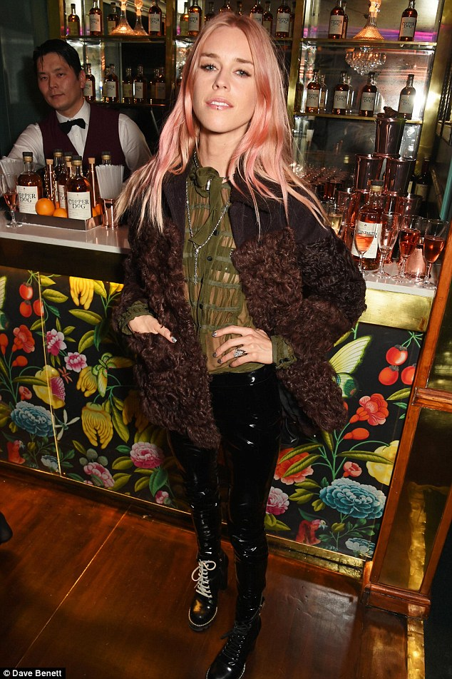 ... and Mary Charteris let their hair down at the event on Thursday evening