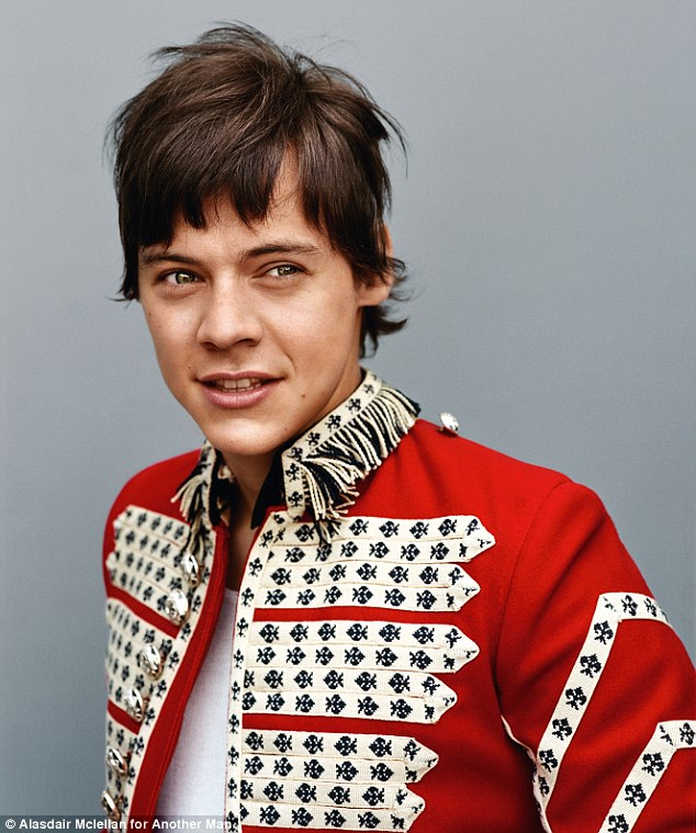 Previously: Harry previously paid homage to a series of British rock icons in a glossy shoot on behalf of Another Man in September, amongst them a reference to Sir Paul McCartney and Sgt. Peppers Lonely Hearts Club Band