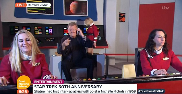 Enterprise: William was speaking to the duo from Birmingham where he is promoting the 50th anniversary of Star Trek