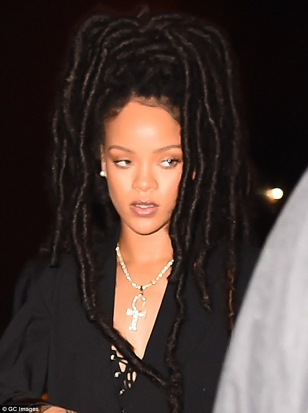 Thick dreads: The singer's face was framed by her thick dreadlocks