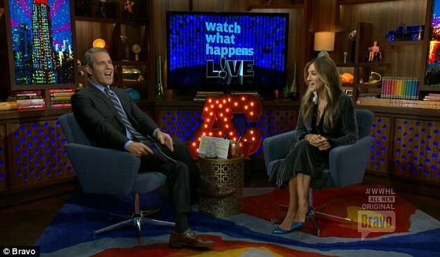 In the clubhouse: Andy Cohen welcomed Sarah onto the show