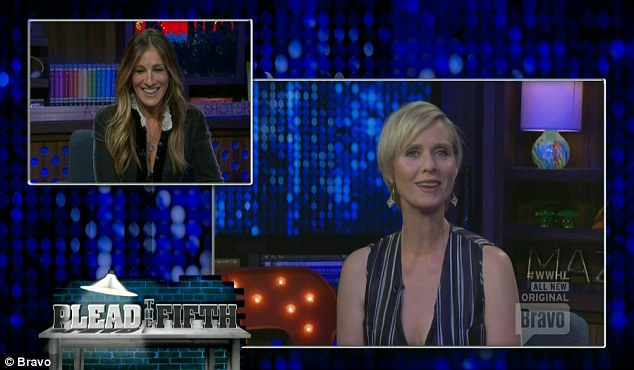 Video question: Cynthia Nixon asked Sarah one of the questions via video