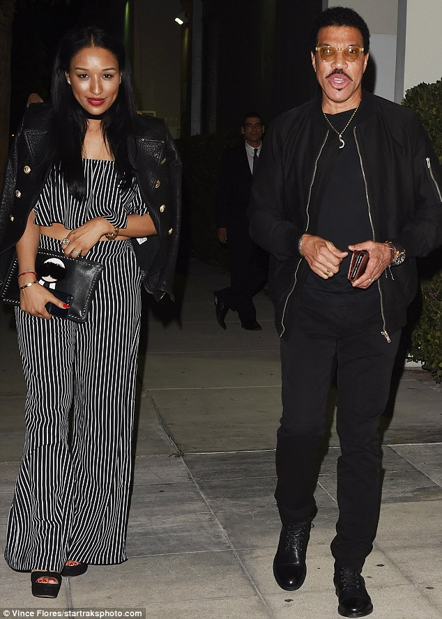Ready to go All Night Long: Lionel Richie escorted his much younger lover Lisa Parigi to the event