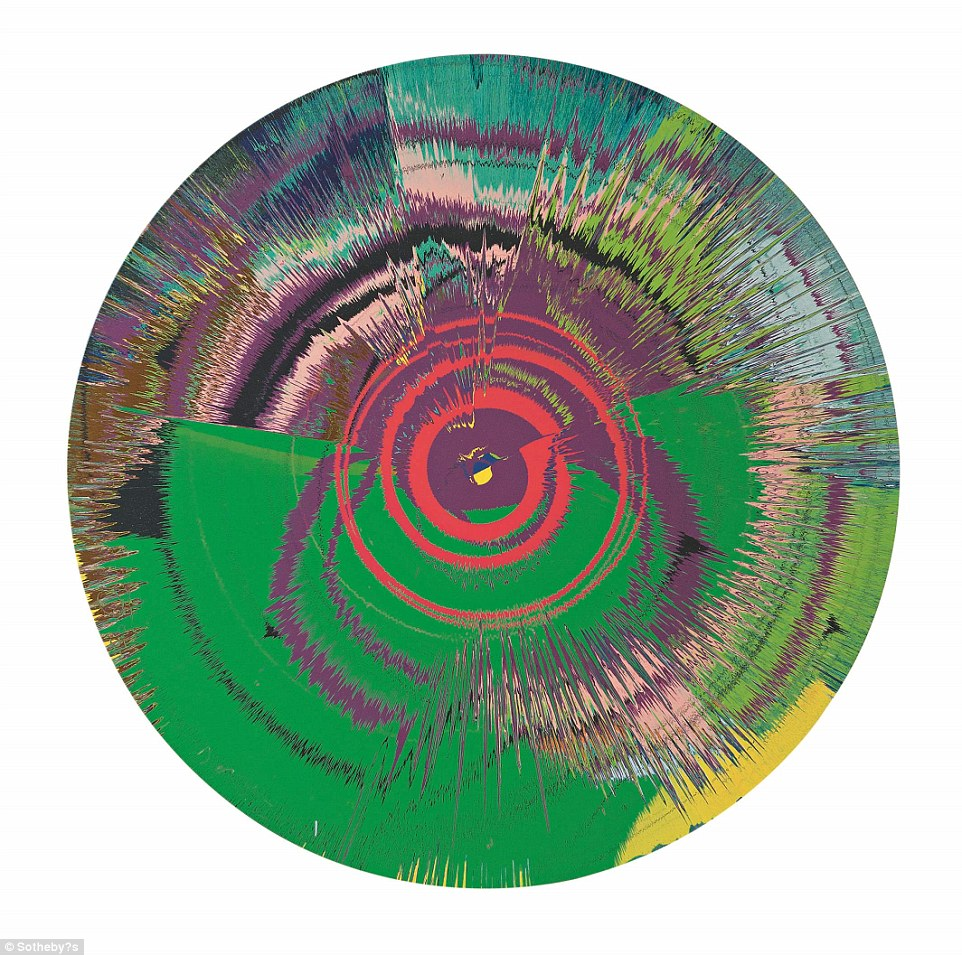 David Bowie collaborated with Damien Hirst on Beautiful, hallo, space-boy painting in 1995, the same year the artist won the Turner prize. During the process, Bowie said he felt like a three-year-old again. This is one of the most expensive pieces, valued at more than £250,000
