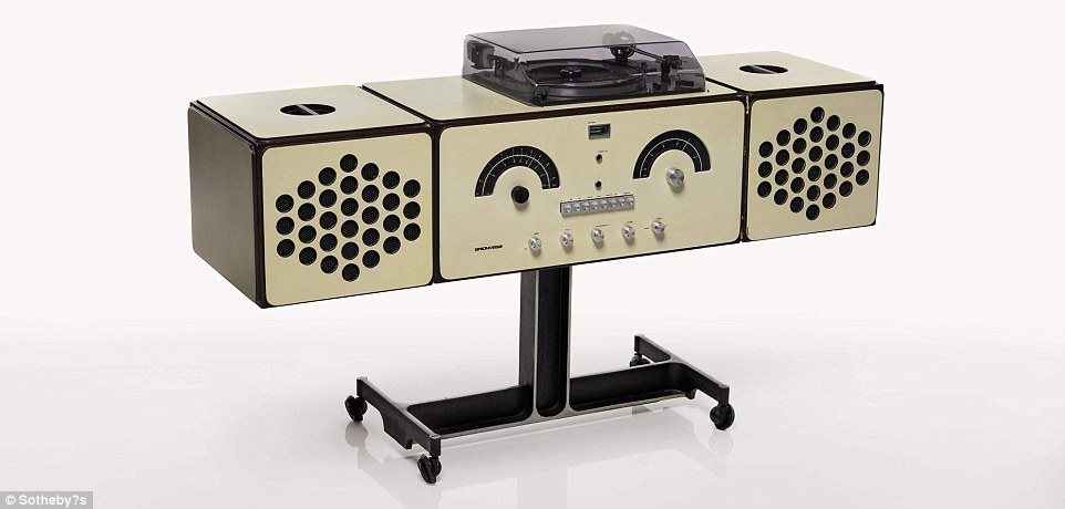 Achille and Pier Giacomo Castiglioni's playful radio-phonograph was designed in 1966 and will be worth between £800 and £1,200.It was designed as a kind of 'musical pet' – as well as being completely detachable, the speakers can be hooked on top or on the side like ears and the control dials form a face