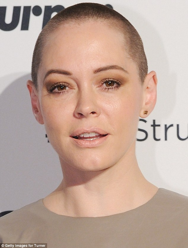 It's not just her top that's cropped: She was wearing her buzz-cut hairstyle at the event