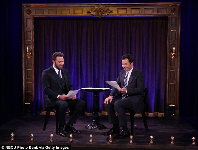 Drama: Earlier scripts saw Affleck play Fallon's unloving father, too busy working 'at the stock market' to play sports with his son, until he caved and hugged him for five seconds, as they both 'counted the numbers out loud'