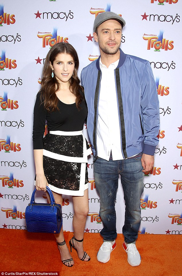 Pitch perfect! Anna Kendrick and Justin Timberlake promoted their new film Trolls and its music in New York on Thursday
