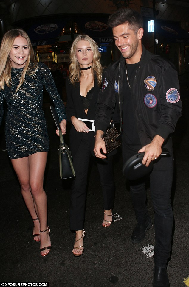 Twice in a row: It was only last night that Lottie joined ladies' man Alex for a night out at Embargo nightclub in London