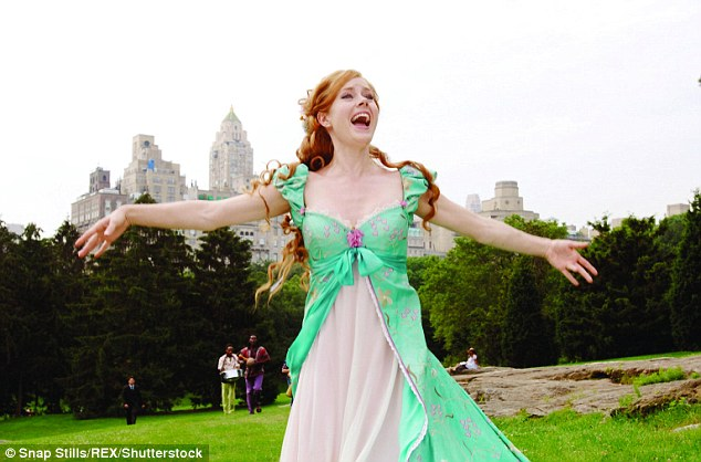 Musical: Amy played Princess Giselle, a fairytale princess who finds herself transported to real-life New York City