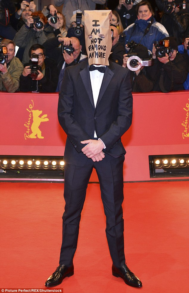 I am not famous anymore: The Transformers star infamously wore a paper bag over his head when he stepped on to the red carpet in 2014 for his film Nymphomaniac: Volume I