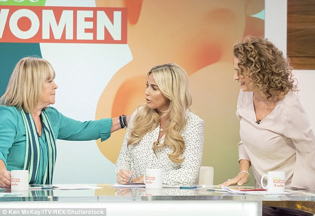 Sympathetic: She received support from the Loose Women team as she shared the news