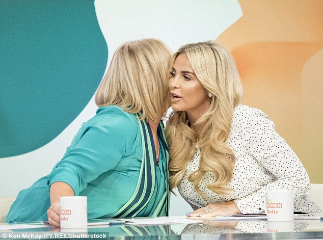 Let's hug it out: The mother-of-five later shared a hug with Linda, who called her a 'great mum'